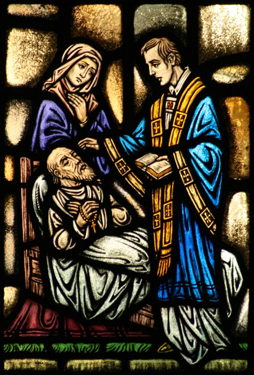 Stain Glass of Anointing of the Sick