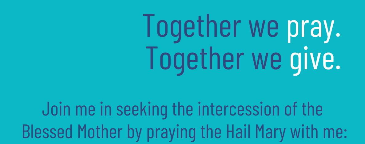 Together we pray. Together we give.